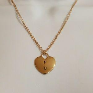F U necklace